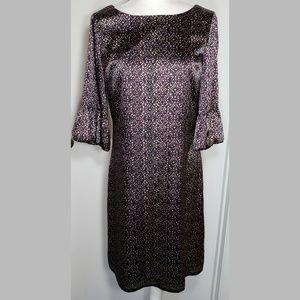 Tahari Midi Dress 3/4 Length Sleeve